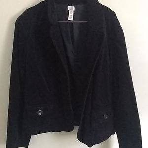 Bass navy blue velvet blazer